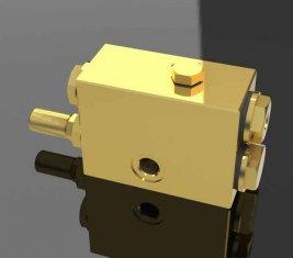 Één manier Throttle directionele hydraulisch ventiel met Shuttle QY12-F5 kraan
